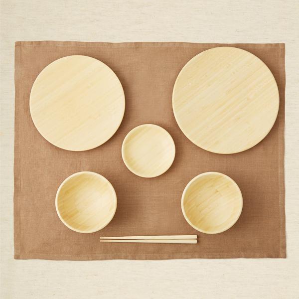 離乳食にも使える天然木製のお食い初め食器
